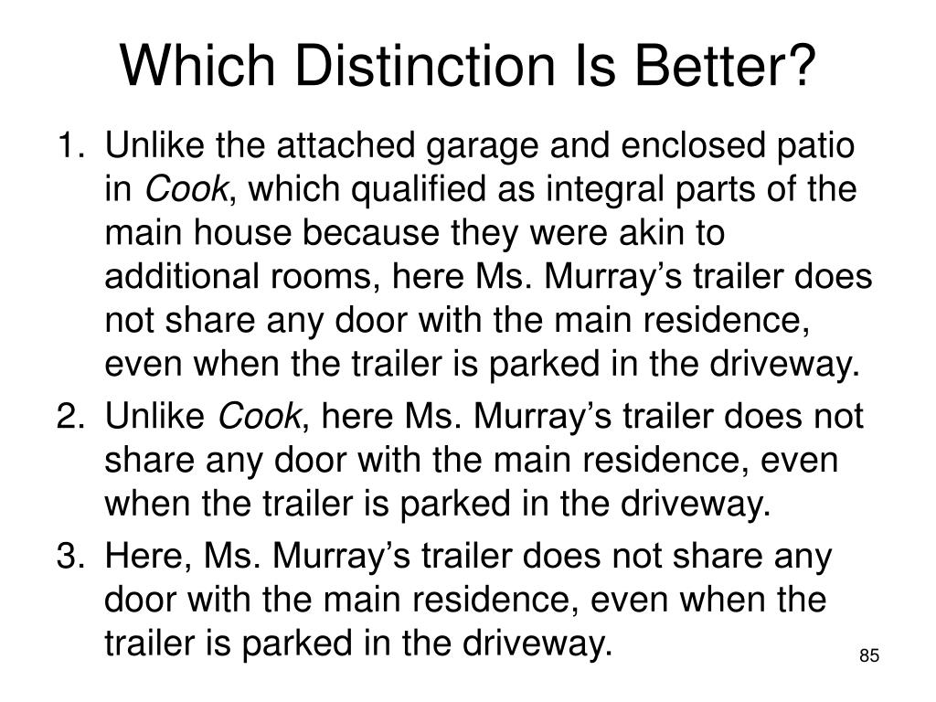 Which Distinction Is Better?