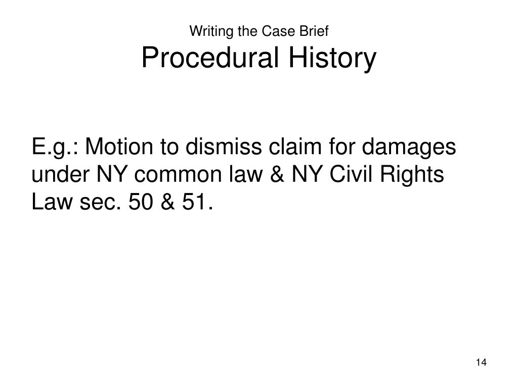 Writing the Case Brief