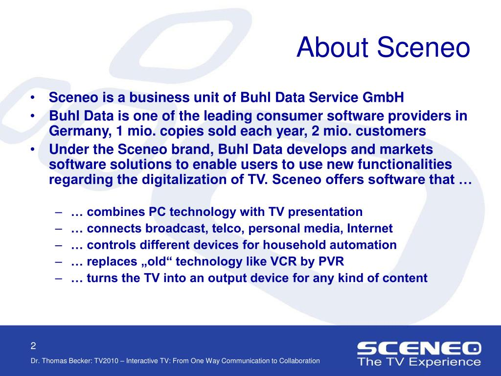 About Sceneo