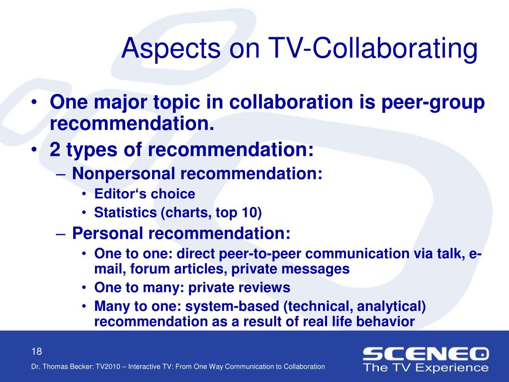Aspects on TV-Collaborating