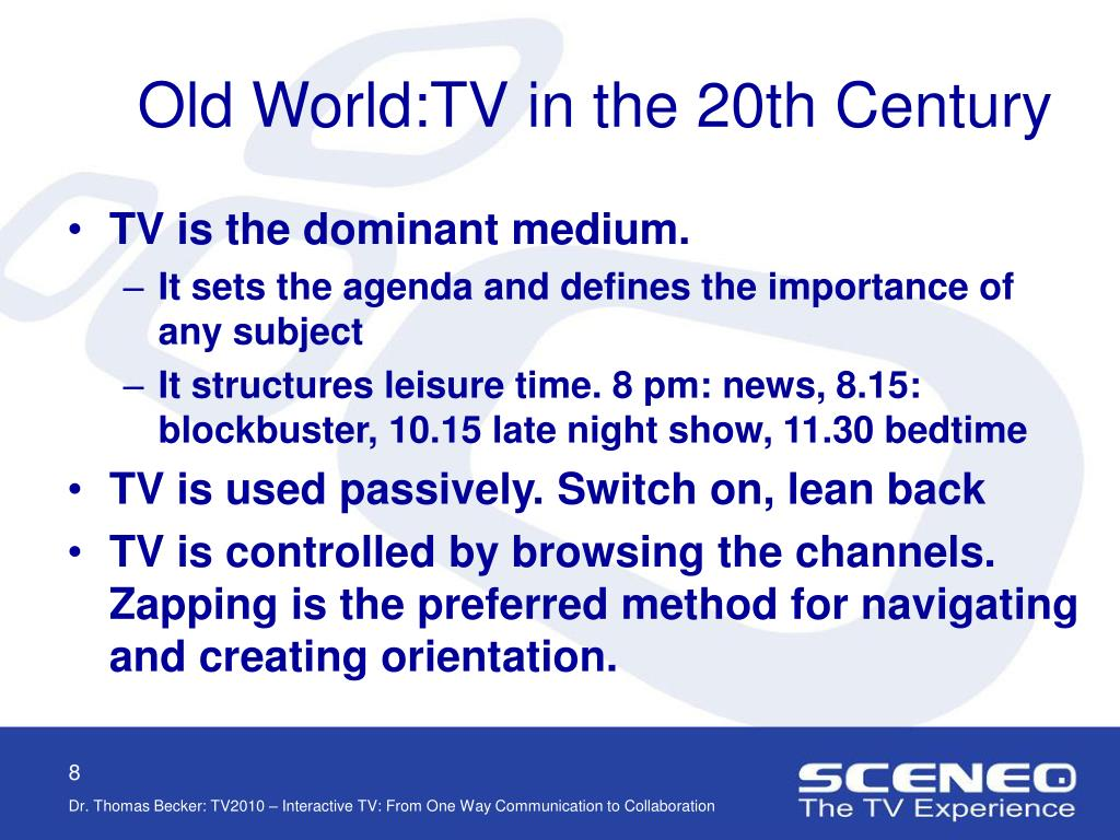 Old World:TV in the 20th Century