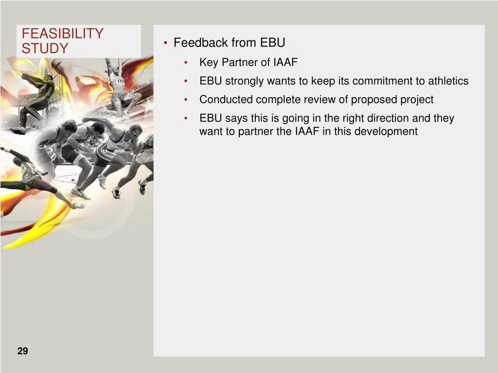 Feedback from EBU