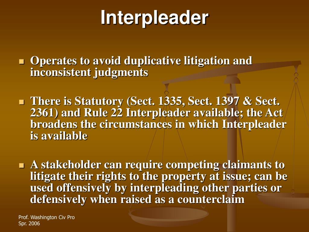 Interpleader
