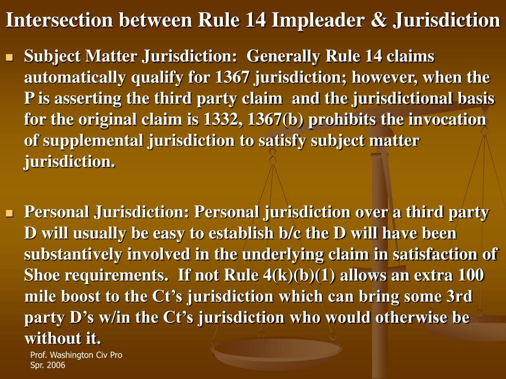 Intersection between Rule 14