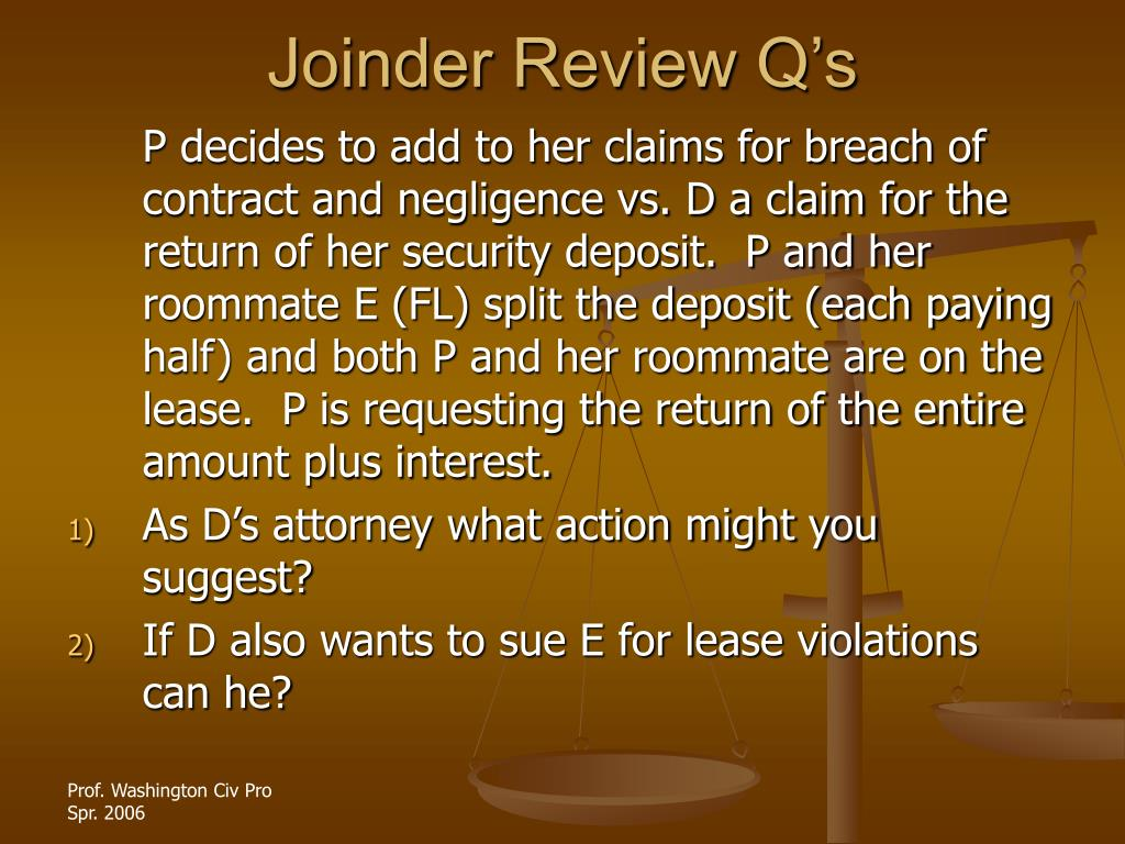 Joinder Review Q's