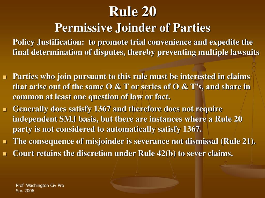 Rule 20