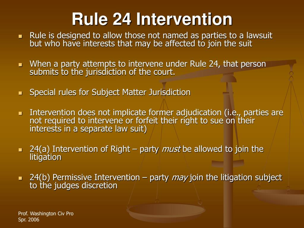 Rule 24 Intervention