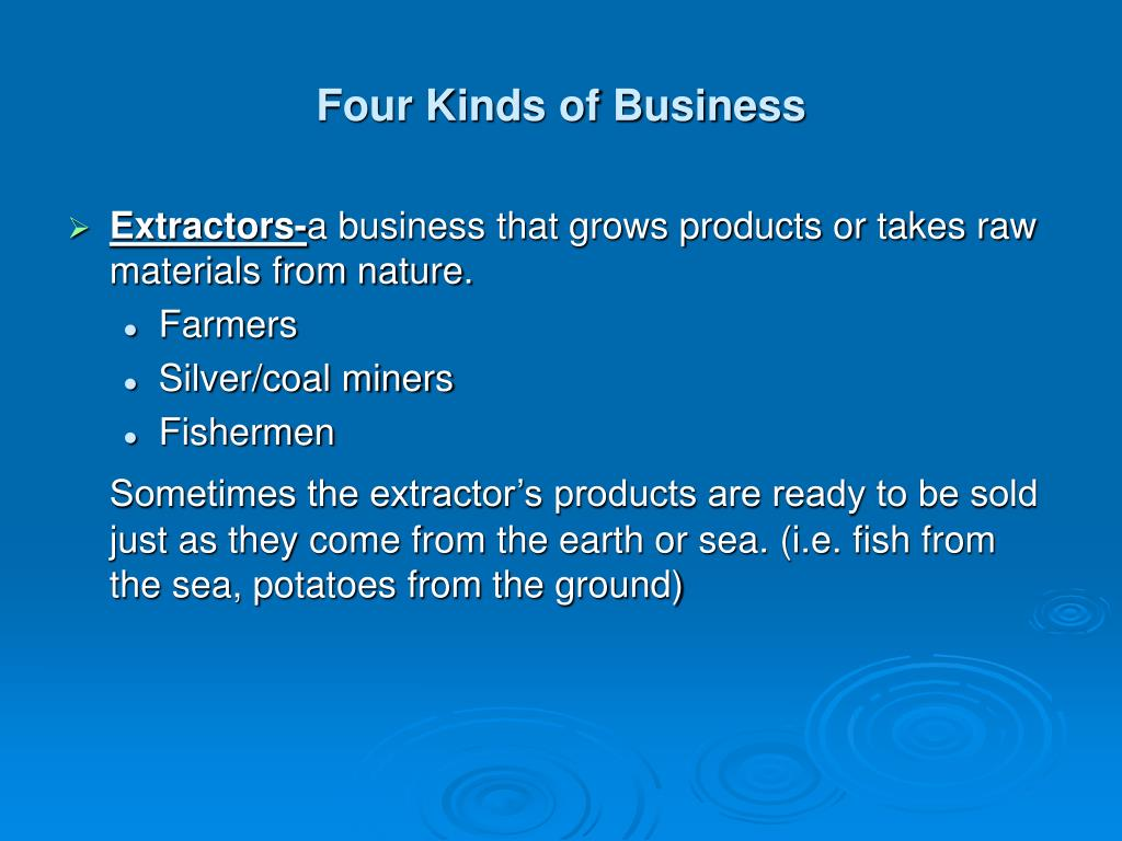 Four Kinds of Business