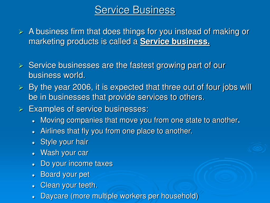 Service Business