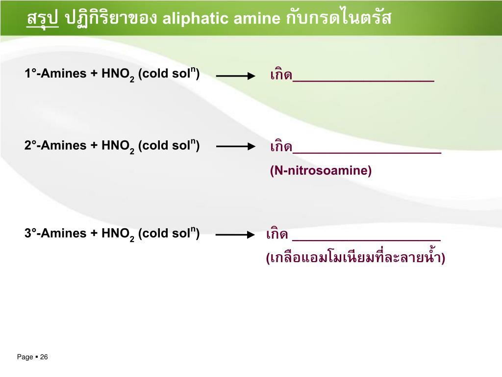 1°-Amines + HNO