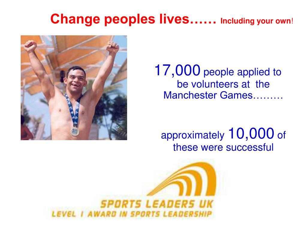Change peoples lives……