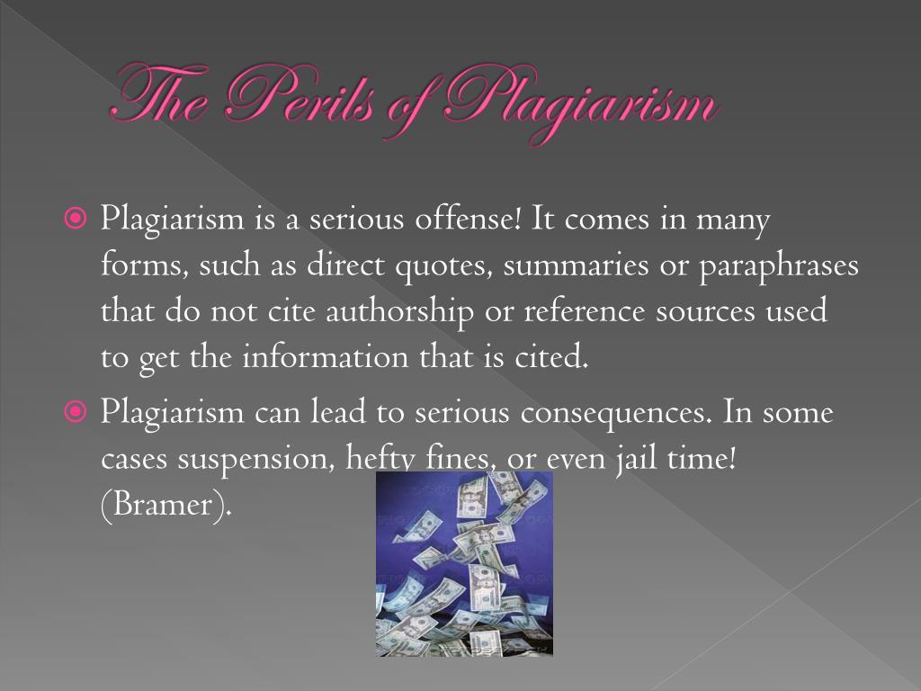 The Perils of Plagiarism