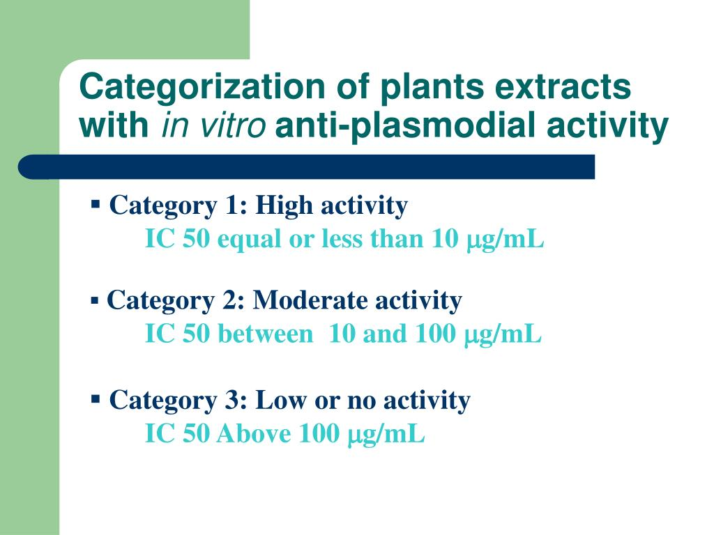 Categorization of plants extracts with
