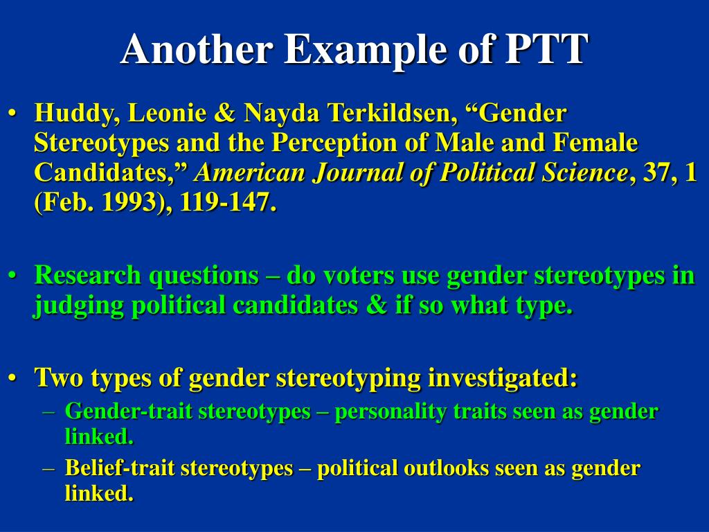 Another Example of PTT
