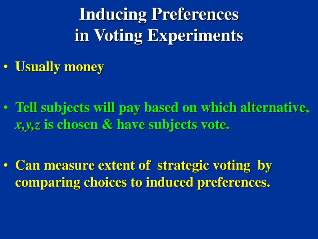 Inducing Preferences