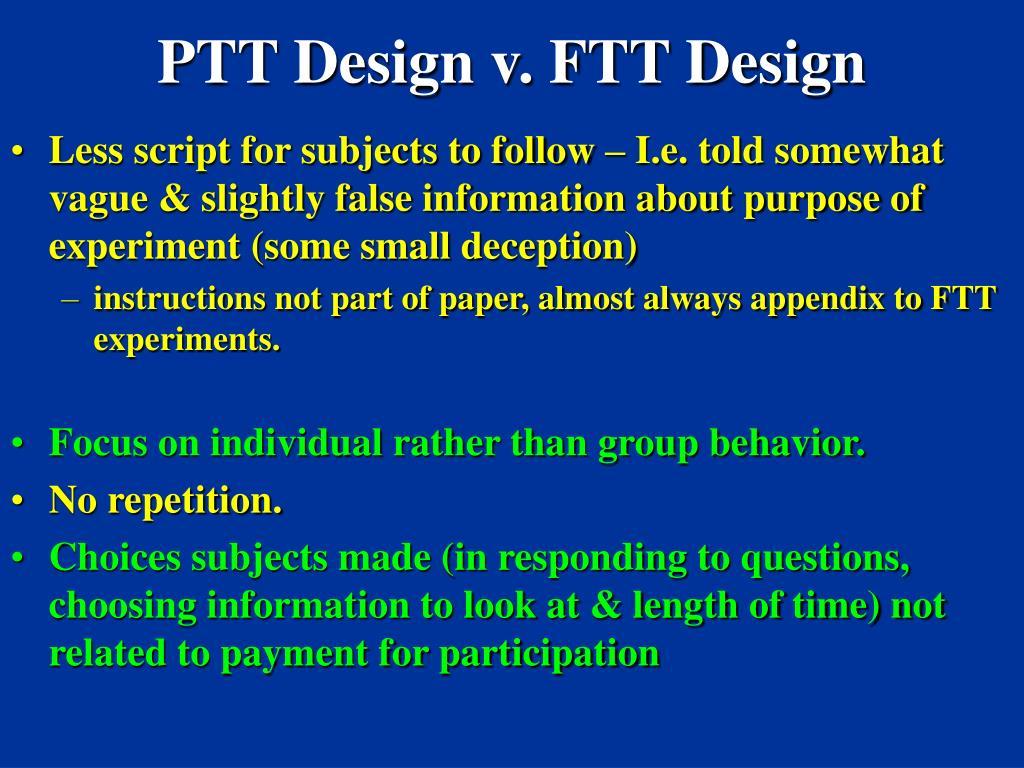 PTT Design v. FTT Design