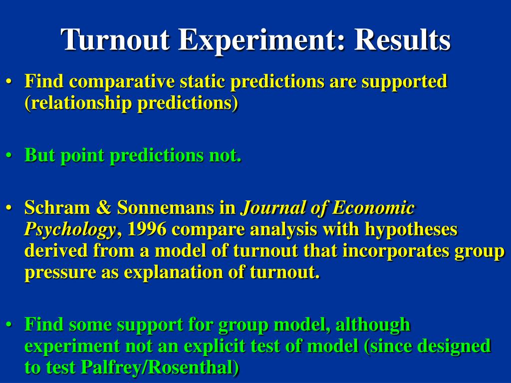 Turnout Experiment: Results
