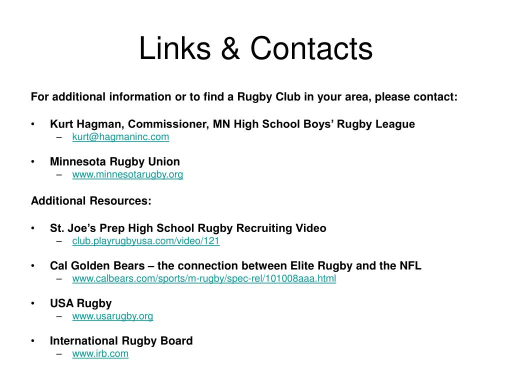 Links & Contacts