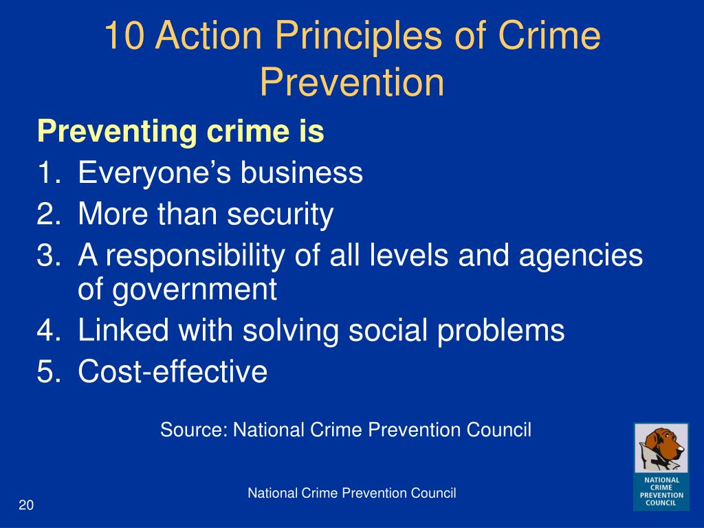10 Action Principles of Crime Prevention
