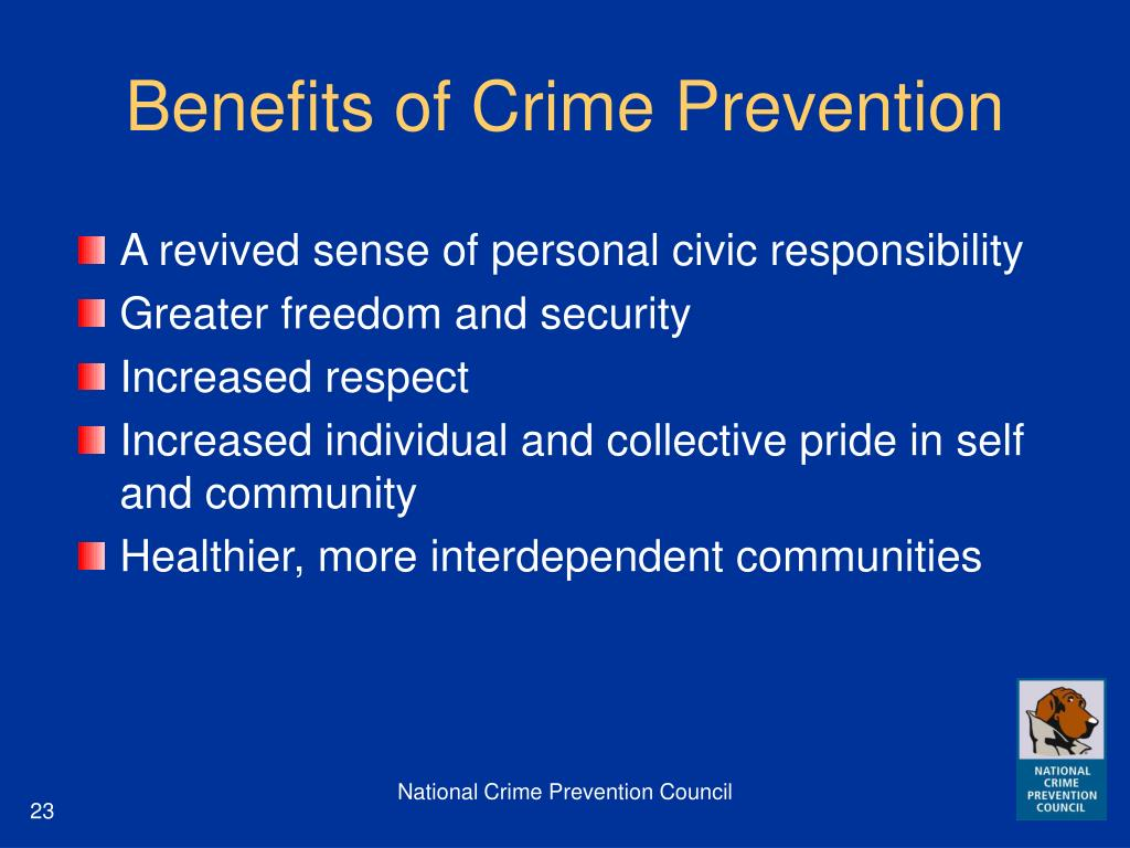 Benefits of Crime Prevention