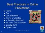 best practices in crime prevention