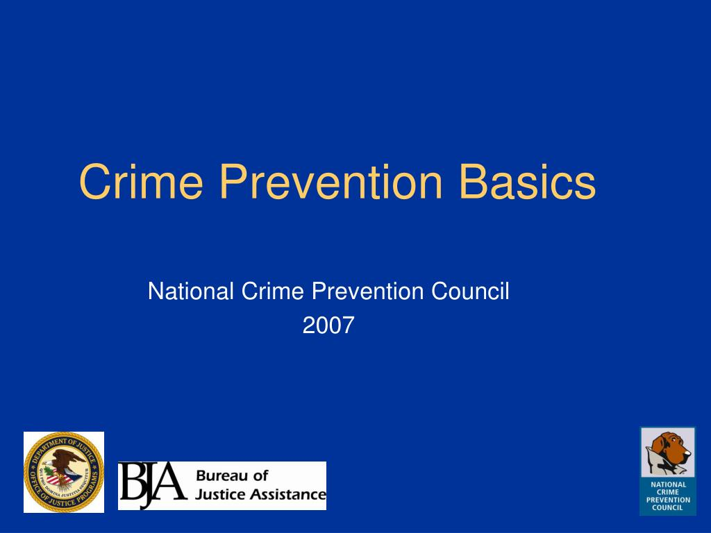 crime prevention basics