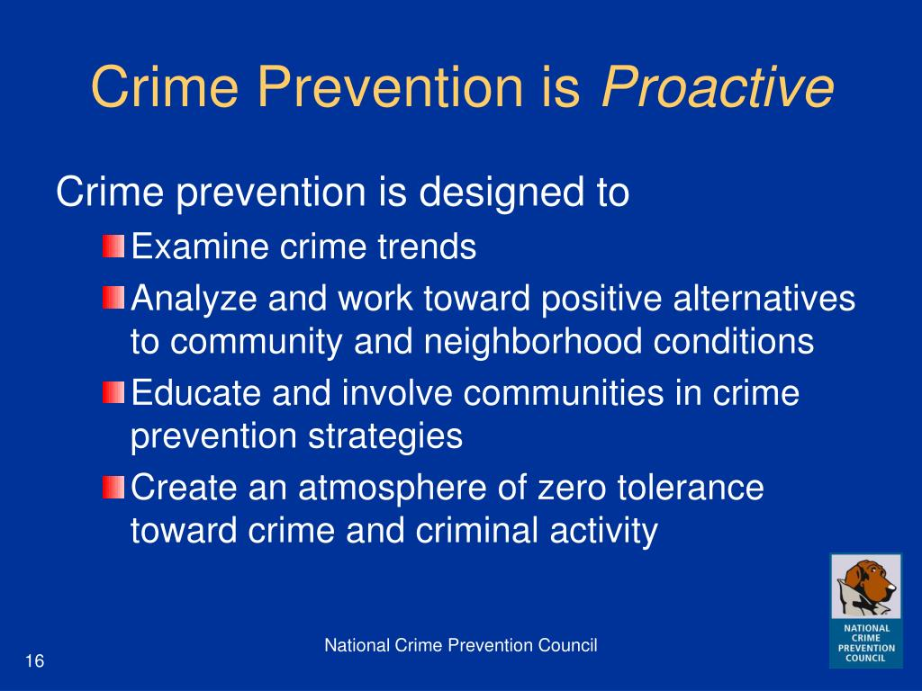 Crime Prevention is