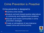 crime prevention is proactive
