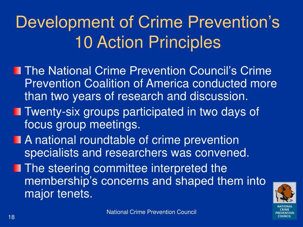 Development of Crime Prevention's