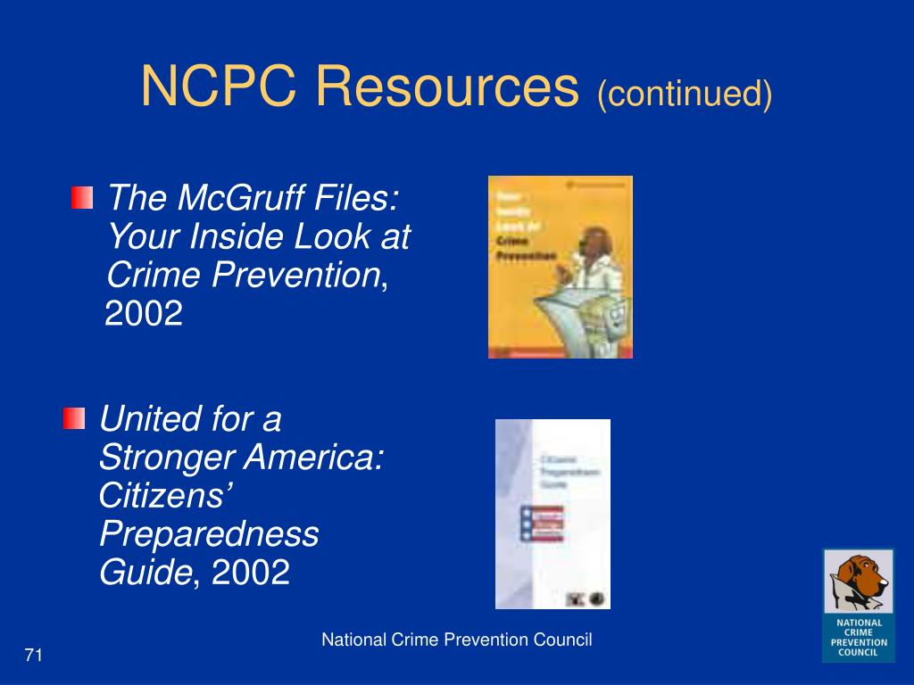 NCPC Resources