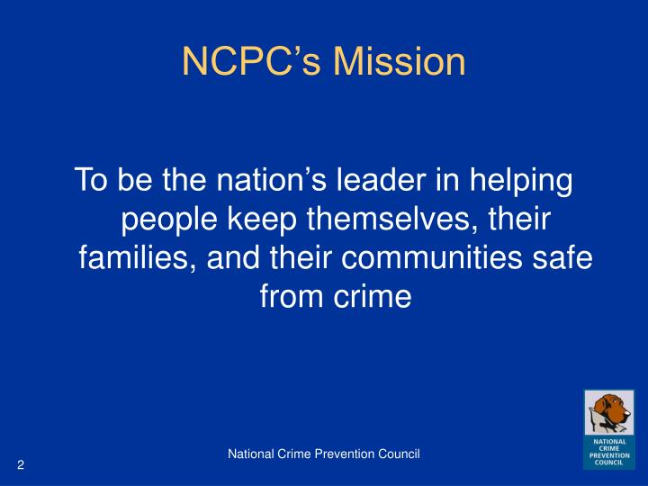 Ncpc s mission