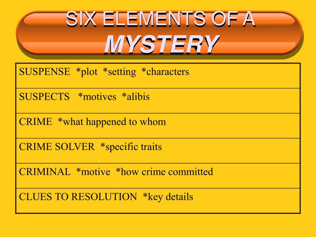 SIX ELEMENTS OF A