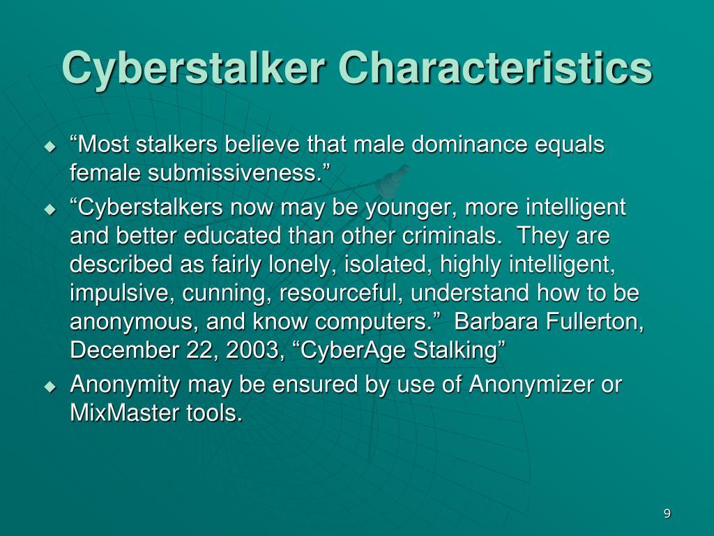 Cyberstalker Characteristics