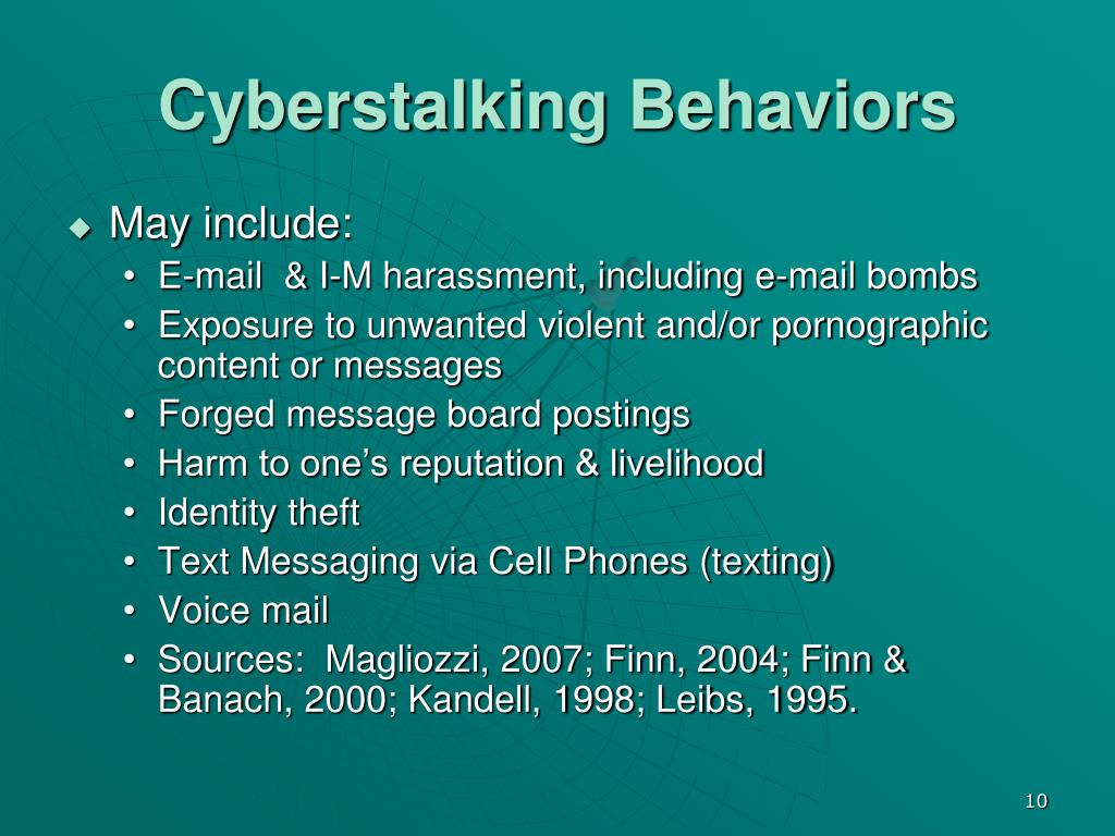 Cyberstalking Behaviors