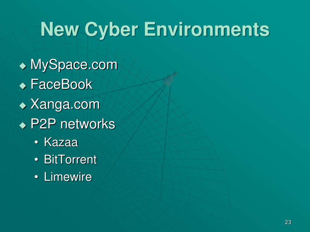 New Cyber Environments
