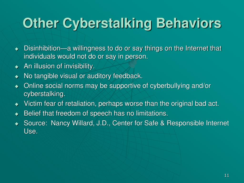 Other Cyberstalking Behaviors