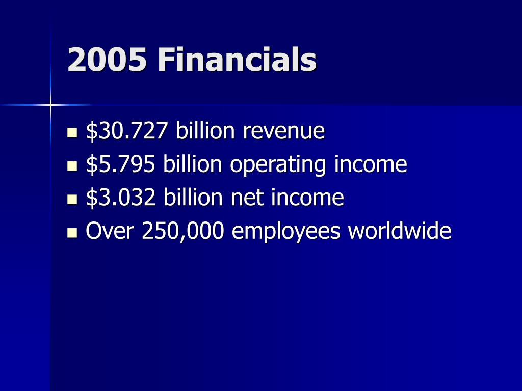 2005 Financials