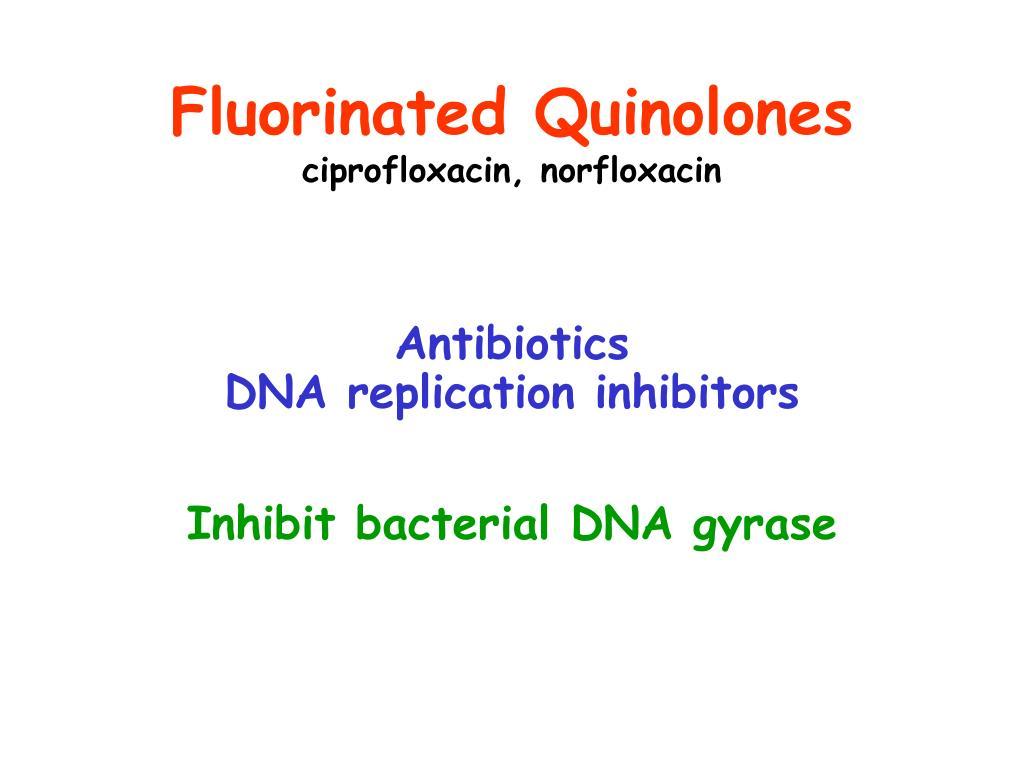 Fluorinated Quinolones