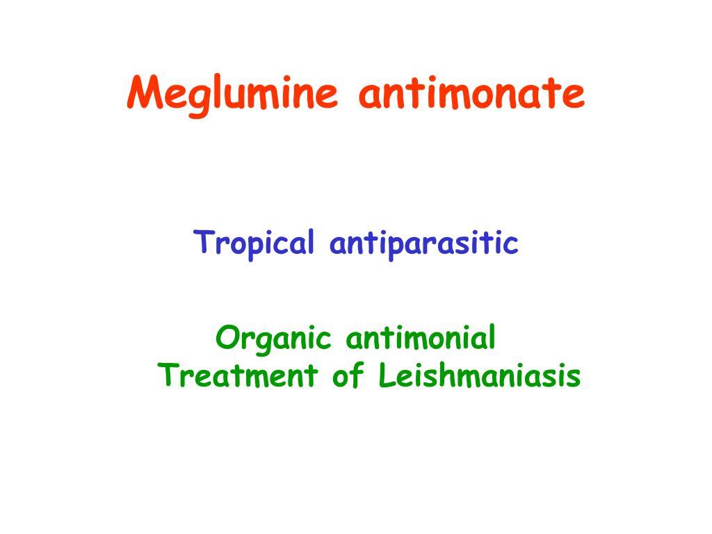 Meglumine antimonate