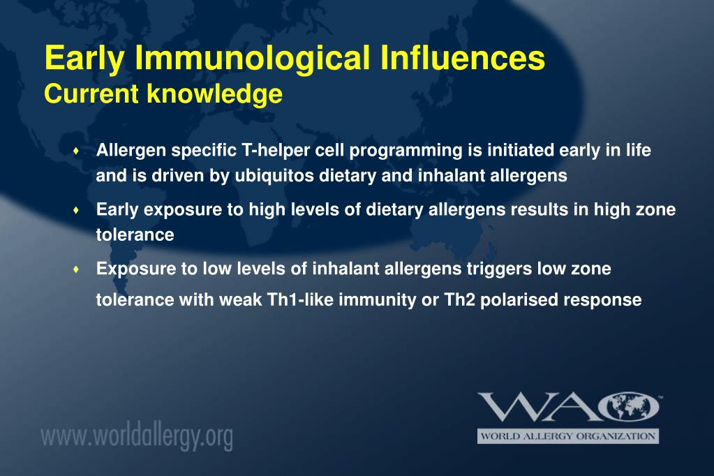 Early Immunological Influences