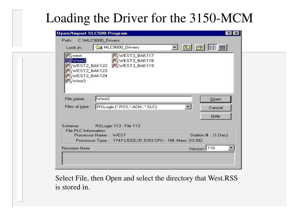 Loading the Driver for the 3150-MCM