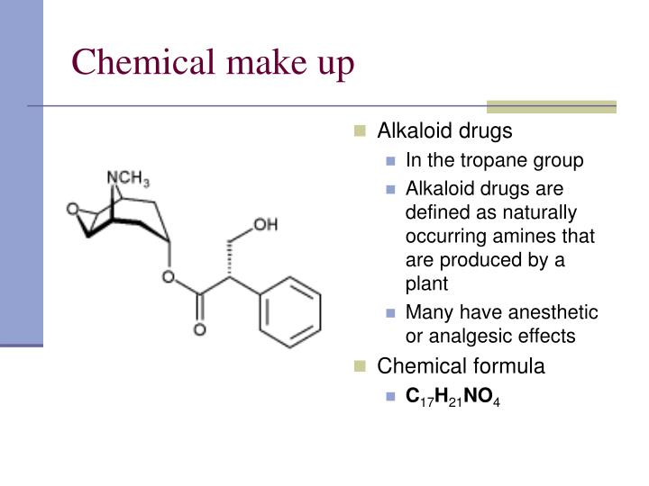Chemical make up