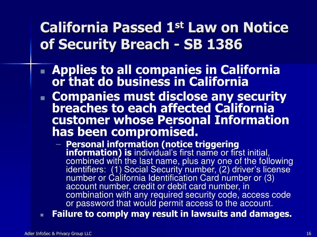 California Passed 1