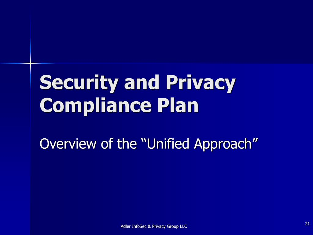 Security and Privacy Compliance Plan