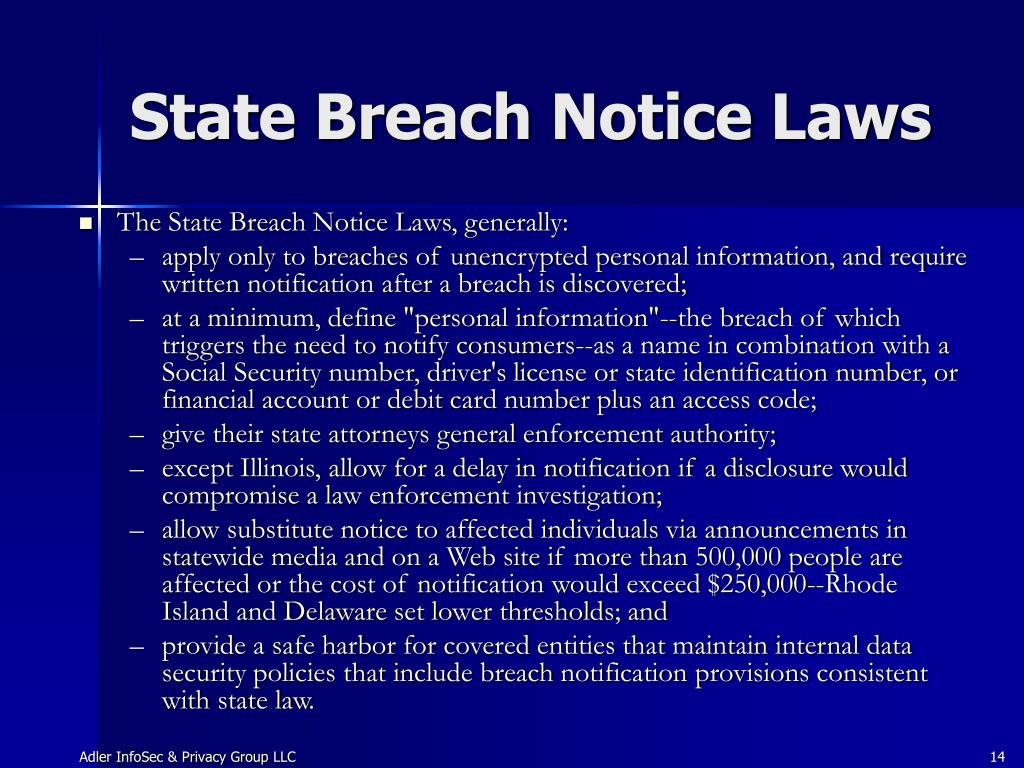 State Breach Notice Laws