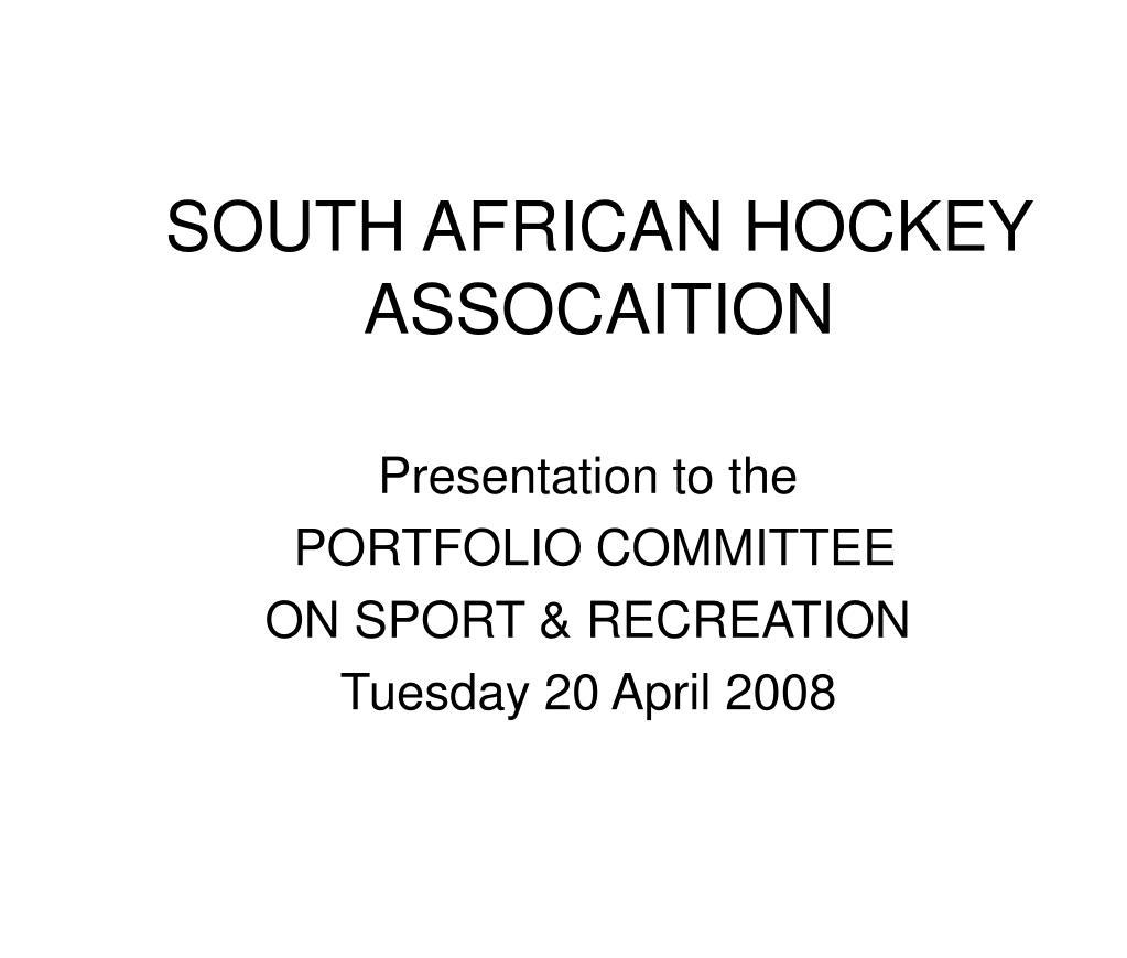 SOUTH AFRICAN HOCKEY ASSOCAITION