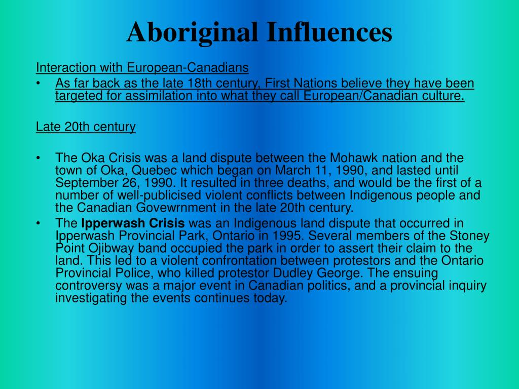 Aboriginal Influences