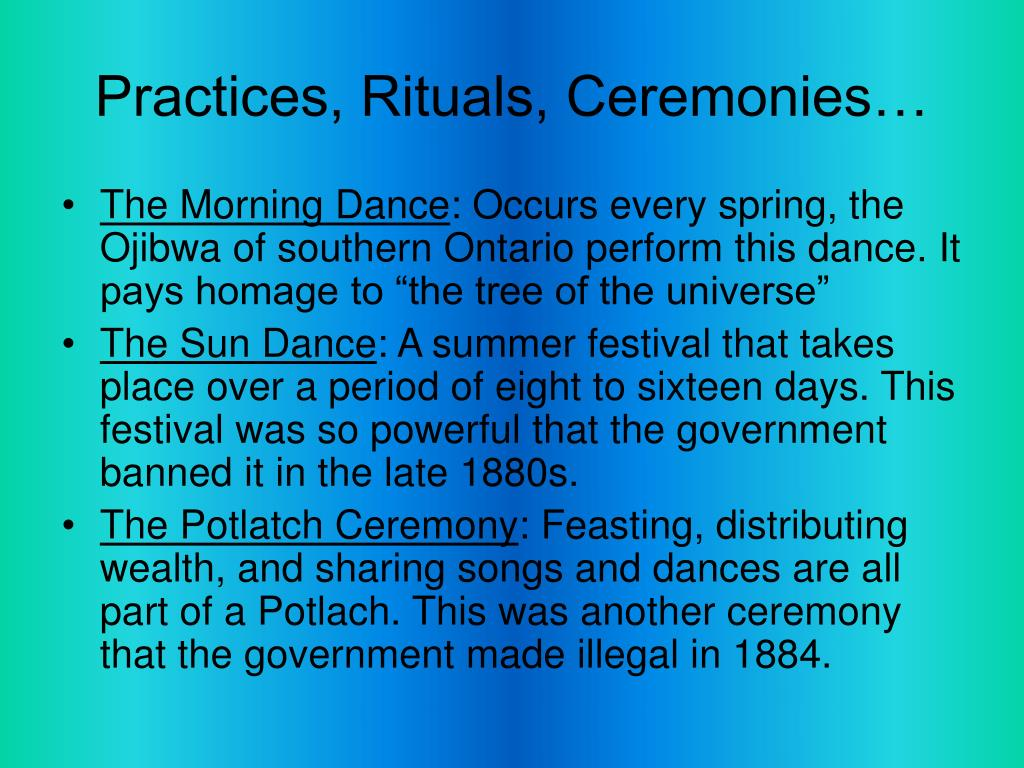 Practices, Rituals, Ceremonies…