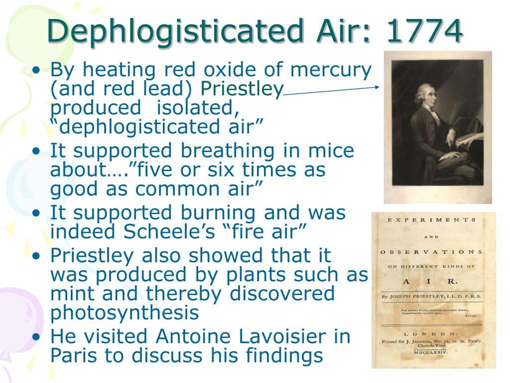 Dephlogisticated Air: 1774