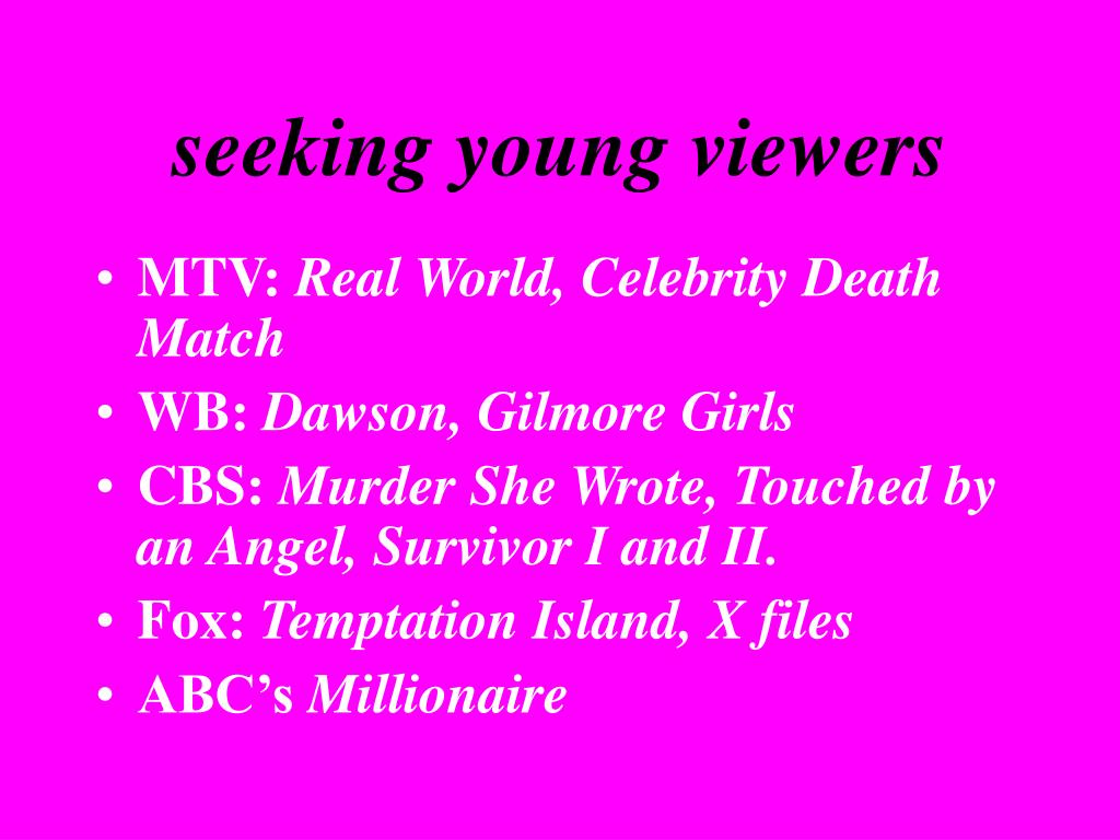 seeking young viewers